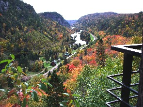 Lookout at Agawa Canyon Park