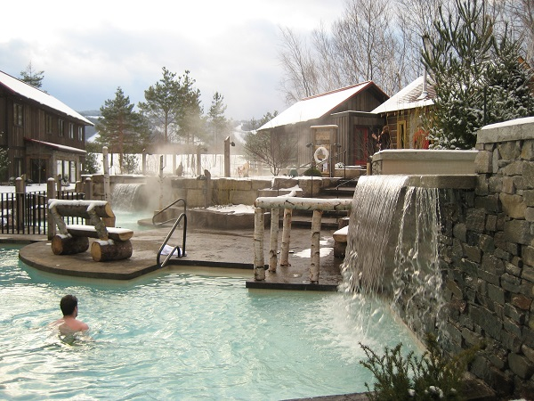 Hot pools aqt Scandinave Spa Blue Mountain