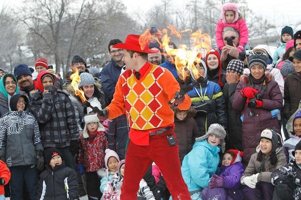 Fire Busker at WinterFest, Downsview Park