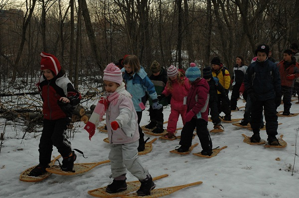Snowshoeing at Humber Arboretum March Break Camp