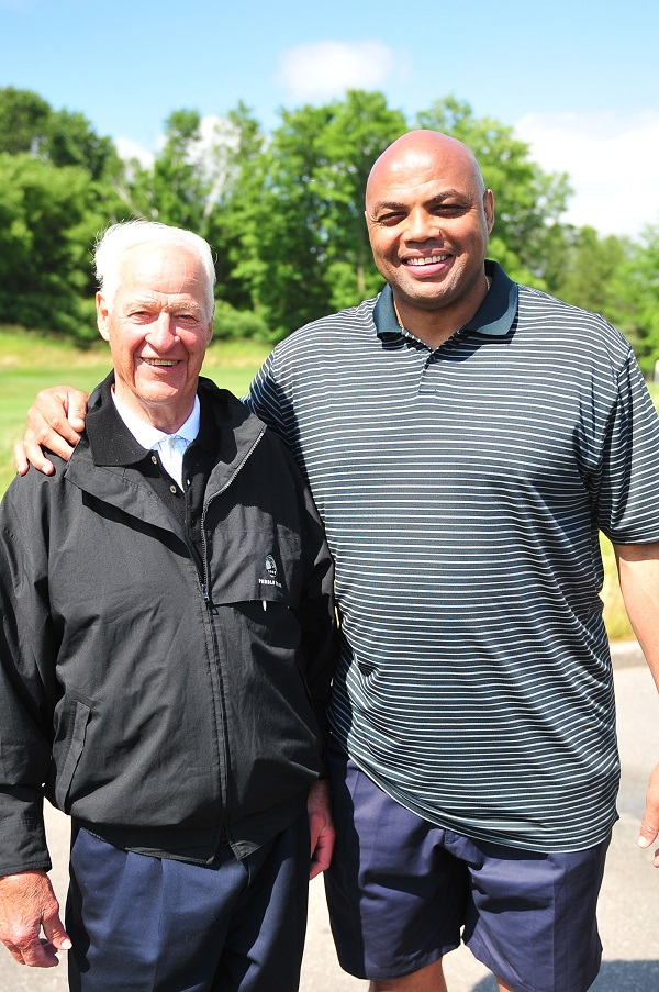 Gordie Howe and Charles Barkley at Joe Carter Classic