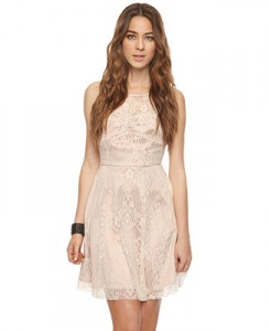 Forever 21 Lace Overlay Swing Dress, $29.80