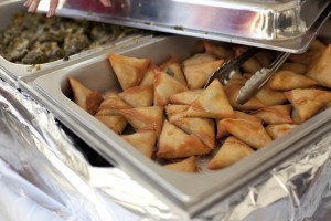 Vegetarian samosas, photo Sean Ohlenkamp