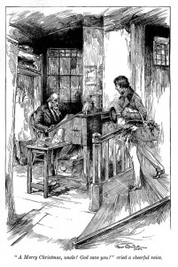 Scrooge in Dickens's A Christmas Carol