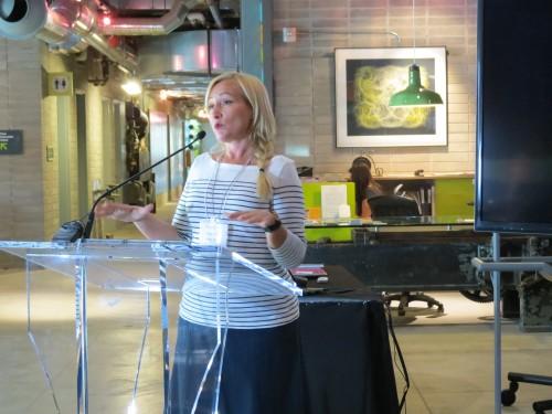 HGTV's Karen Sealy speaks at Beautiful Heat event