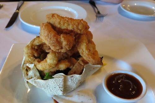 Coconut Calamari Pakoras at Kamasutra Restaurant