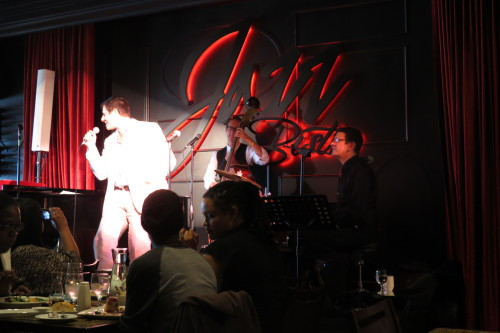 Micah Barnes with Russ Boswell, Daniel Barnes at Jazz Bistro