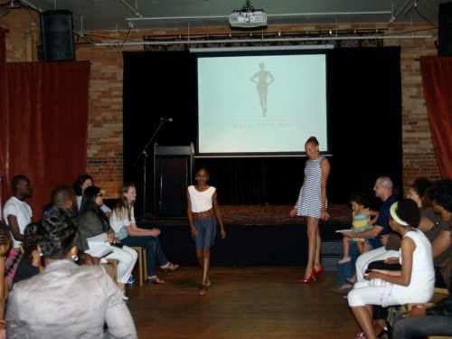 Stacey McKenzie coaches participants in her Walk This Way Workshop
