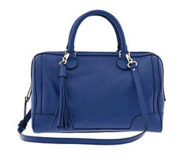 Evan Satchel in Mythic Blue from Banana Republic, $285
