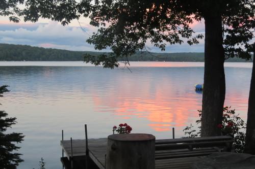 Sunset on Hall's Lake, Ontario