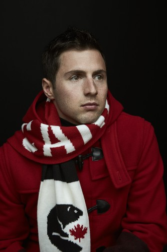 Alexandre Bilodeau in Hudson Bay's Sochi 2014 Canadian Olympic Collection