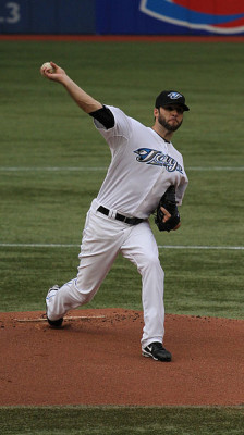 Brandon Morrow of the Toronto Blue Jays, photo by Johnathan Mastrella