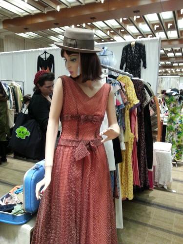 Vintage dress at the Toronto Vintage Clothing Show, photo Sharilene Rowland