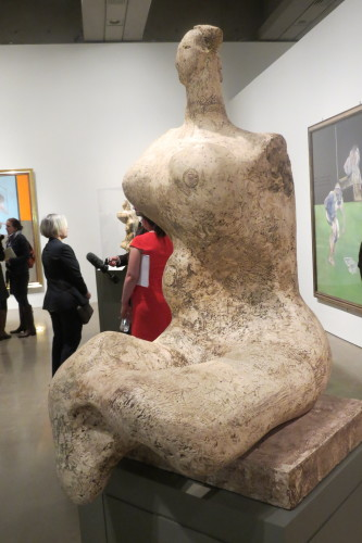 Woman, 1957-1958, plaster by Henry Moore