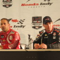 Tony Kanaan and Will Power at Honda Indy Toronto 2014, photo Lori Bosworth