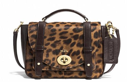 Coach Bleeker Mini Brooklyn Messenger handbag in Haircalf $598