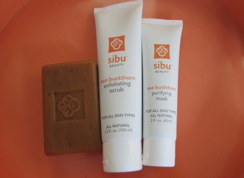 Sibu Sea Buckthorn Face and Body Bar, Exfoliating Scrub and Purifying Mask