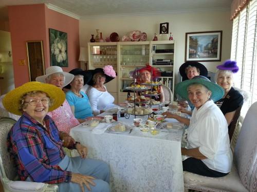 Friends enjoying Afternoon Tea