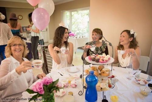 Women enjoying Tea Celebration prepared by Sharilene Rowland, photo Caroline Gauthier Photography