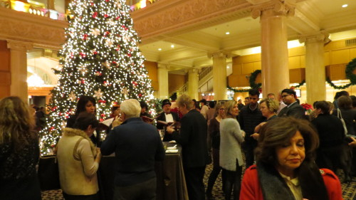 Christmas Tree Lighting cocktail reception at the King Edward Hotel