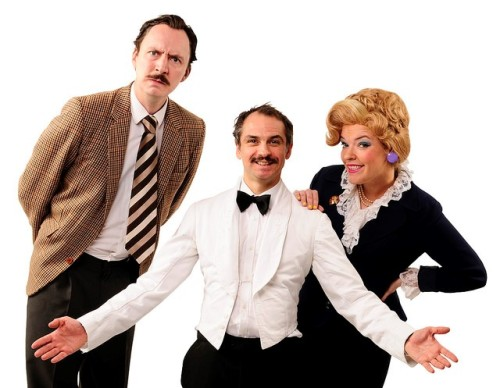Benedict Holme, Leigh Kelly and Imogen Miller Porter of Faulty Towers: The Dining Experience, photo rockitpromo