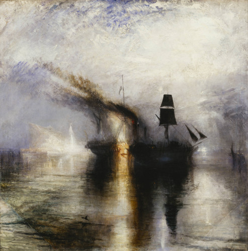JMW Turner Peace - Burial at Sea exhibited 1842 Oil paint on canvas 87.0 x 86.7 cm Tate. Accepted by the nation as part of the Turner Bequest 1856 Courtesy of Tate Photography