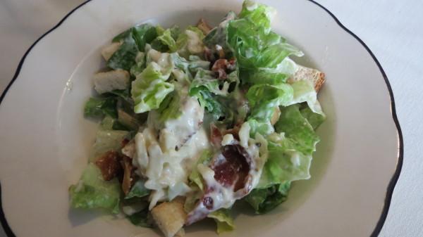 Caesar salad at The Kasbah Mediterranean Qsine