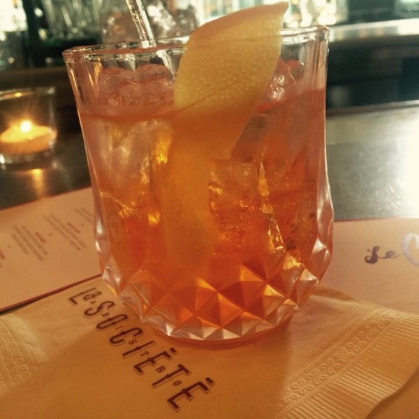 Summer Negroni Cocktail at La Societe