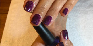 Great layering combination of CNDShellac in Rock Royalty with glittering Northern Lights