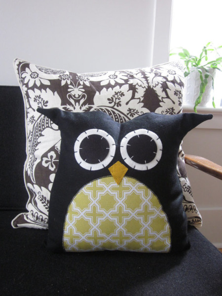 Owl Pillow by Hilary Cosgrove, $60