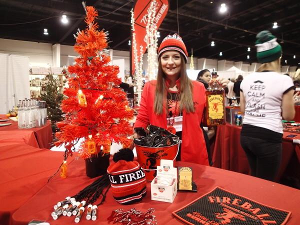 Fireball Cinnamon Whisky at Seasons Christmas Show