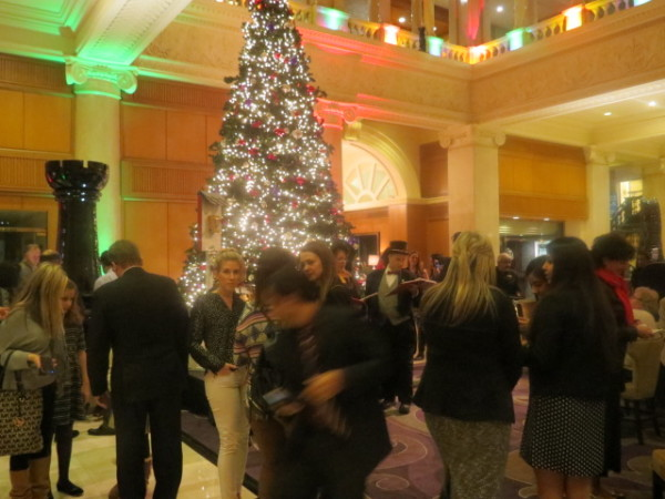 Holiday tree lighting party at Omni King Edward Hotel, Toronto
