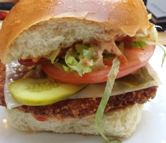 Rob's Crispy Chicken Sandwich at Cactus Club Cafe in Toronto