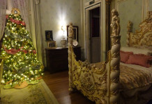 A charming tree in the Windsor Room at Casa Loma as part of the designer holiday exhibit.