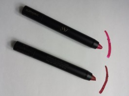 Euphoric and Willpower POWERPLAY POWERSTAY lip pencils from SST Cosmetics