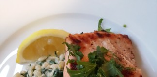 Salmon Fillets with Warm Barley Salad and Fresh Herbs from Culiniste
