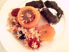 Pilaf Apple and Grape Leaves Dolma by Victoria at MealSurfers