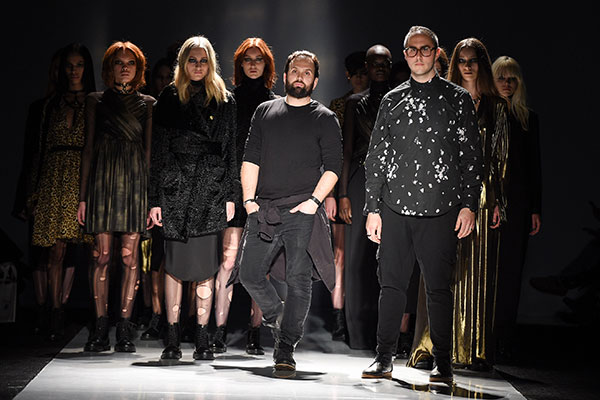 The Helder Diego collection stood out with edgy looks, ripped tights and Dr. Martens boots at Toronto Fashion Week, photo George Pimentel