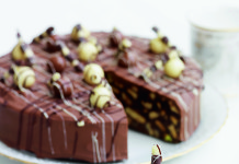 Chocolate Biscuit Cake by Carolyn Robb from The Royal Touch Cookbook