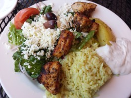 Chicken Souvlaki at Pappas Grill on The Danforth
