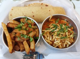 Salli Chicken Bowl, $11.95, at Bombay Street Food at Bay and College
