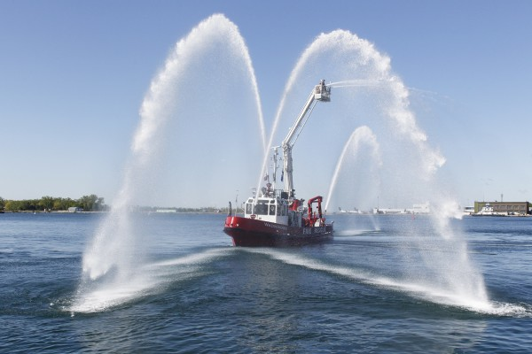 William Lyon Mackenzie Fire Boat at Gangways Open at Toronto's Waterfront