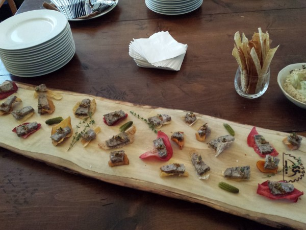 Beef and pork terrine prepared by Chef Eyal Liebman of Chef and Somm using Microplane graters