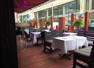 patio at posh supperclub in Toronto