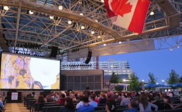 Free Flicks at Harbourfront, photo courtesy Harbourfront Centre
