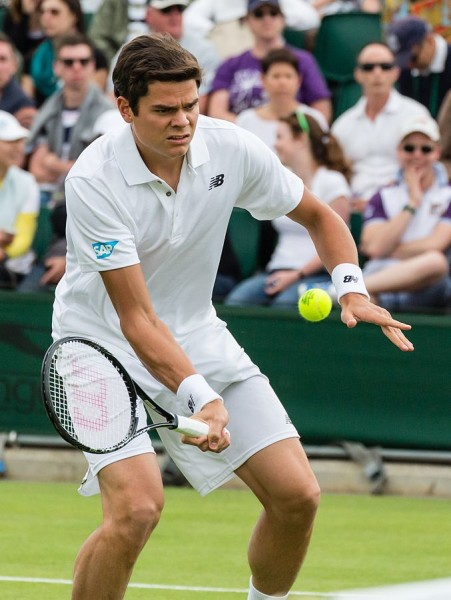 Milos Raonic at Wimbledon 2013 By Diliff - Own work, CC BY-SA 3.0, https://commons.wikimedia.org/w/index.php?curid=26888959