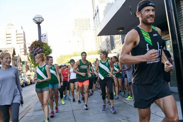 Ironman Champion Lionel Sanders leads runners in Freshii lululemon Sweat Like a Champion event in Toronto