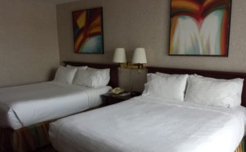 Two queen beds room at Holiday Inn Niagara Falls By the Falls in Canada
