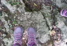 Wearing my KEEN hiking boots on the Bruce Trail.