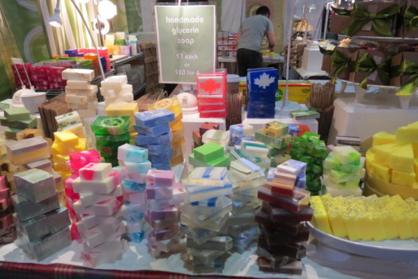 Demo soap handmade glycerin soap at One of a Kind Christmas Sale